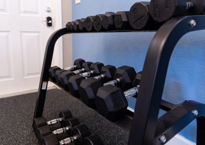 Aggie Square Apartments Fitness Center Dumbells