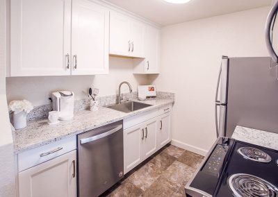 Aggie Square Deluxe Apartment Rental Kitchen