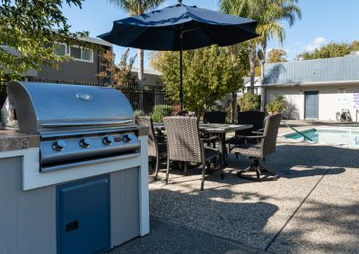 Aggie Square Apartments BBQ Area