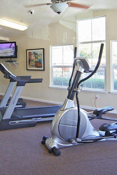 Almondwood Apartments fitness center in Davis