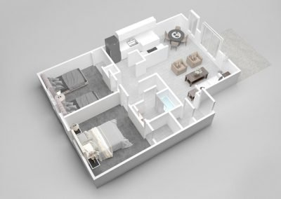 Almondwood Apartments Two-Bedroom Apartment Floor Plan