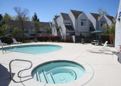 Fountain Circle Townhomes in Davis pool and spa area