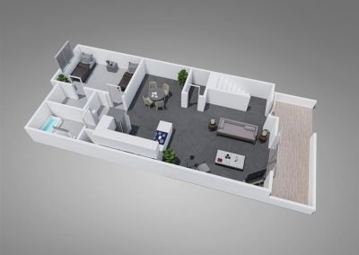 Fountain Circle Four-Bedroom Townhouse Downstairs Floor Plan