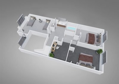 Fountain Circle Three-bedroom Townhome Floor Plan Upstairs - Style C