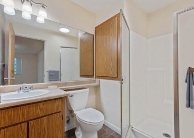 Fountain Circle Townhomes Master Bathroom - 2BR Apartment