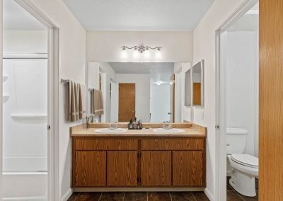 Fountain Circle Townhomes Upstairs Bathroom - 3BR (Style A)
