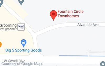 Local Map for Fountain Circle Townhomes