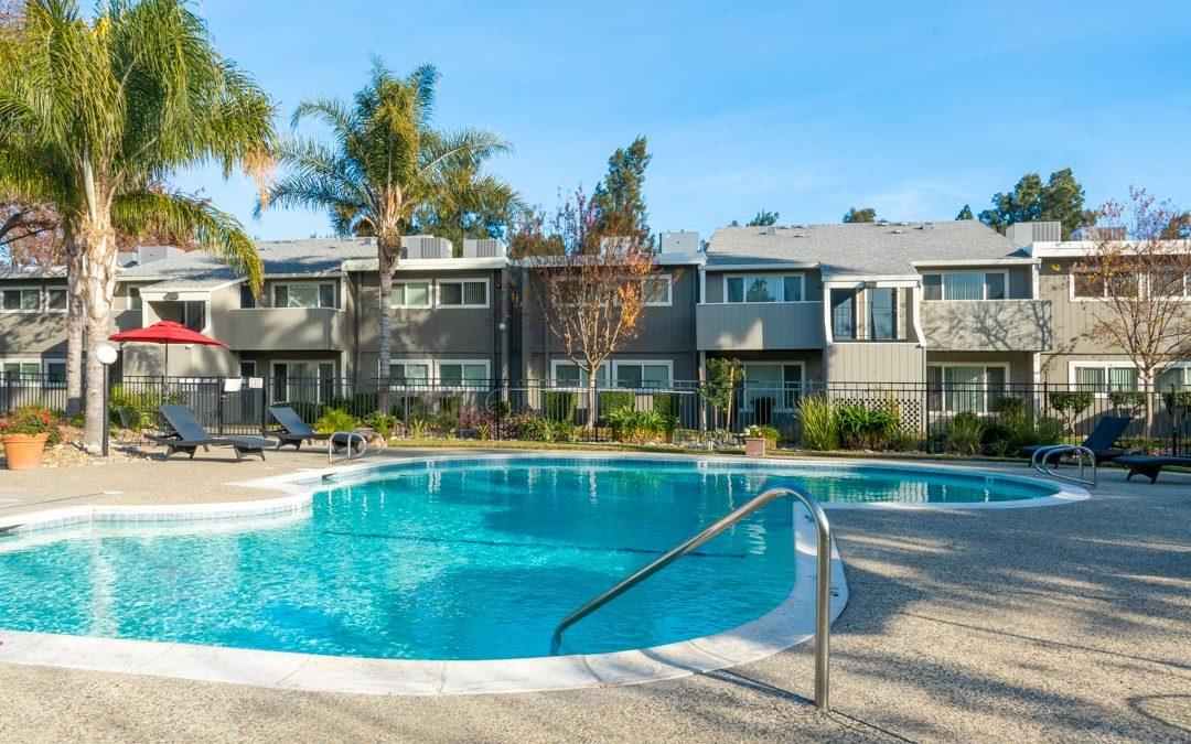 Davisville Aggie Square Apartment Complex Pool Area