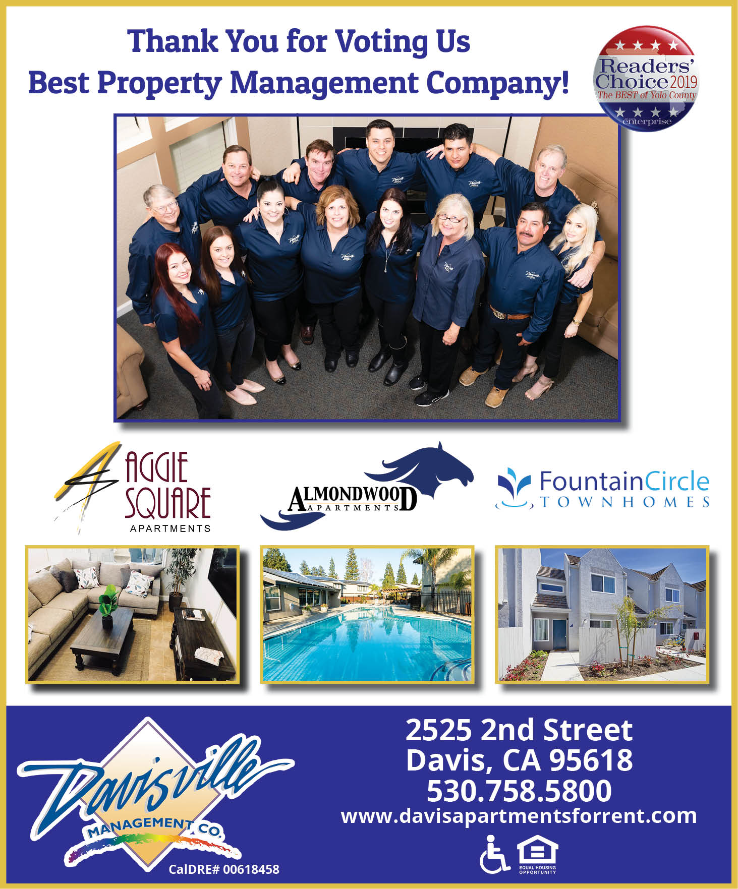 Davisville Management Company Best Property Management in Yolo County