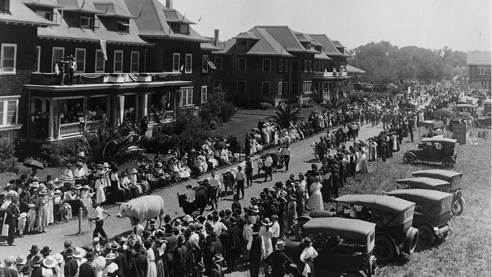 Historical photograph of Davis CA