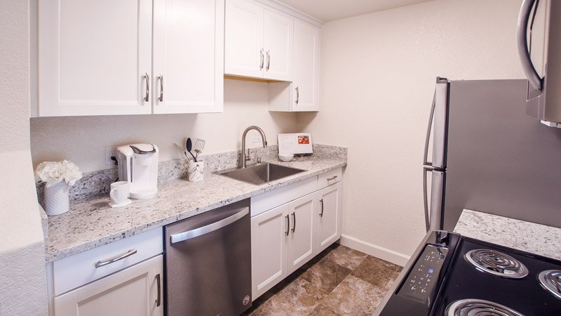 Photograph of Aggie Square Apartments Deluxe Kitchen