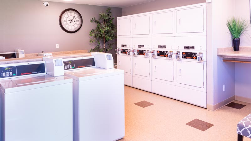Photograph of Aggie Square Apartments Davis Laundry Room