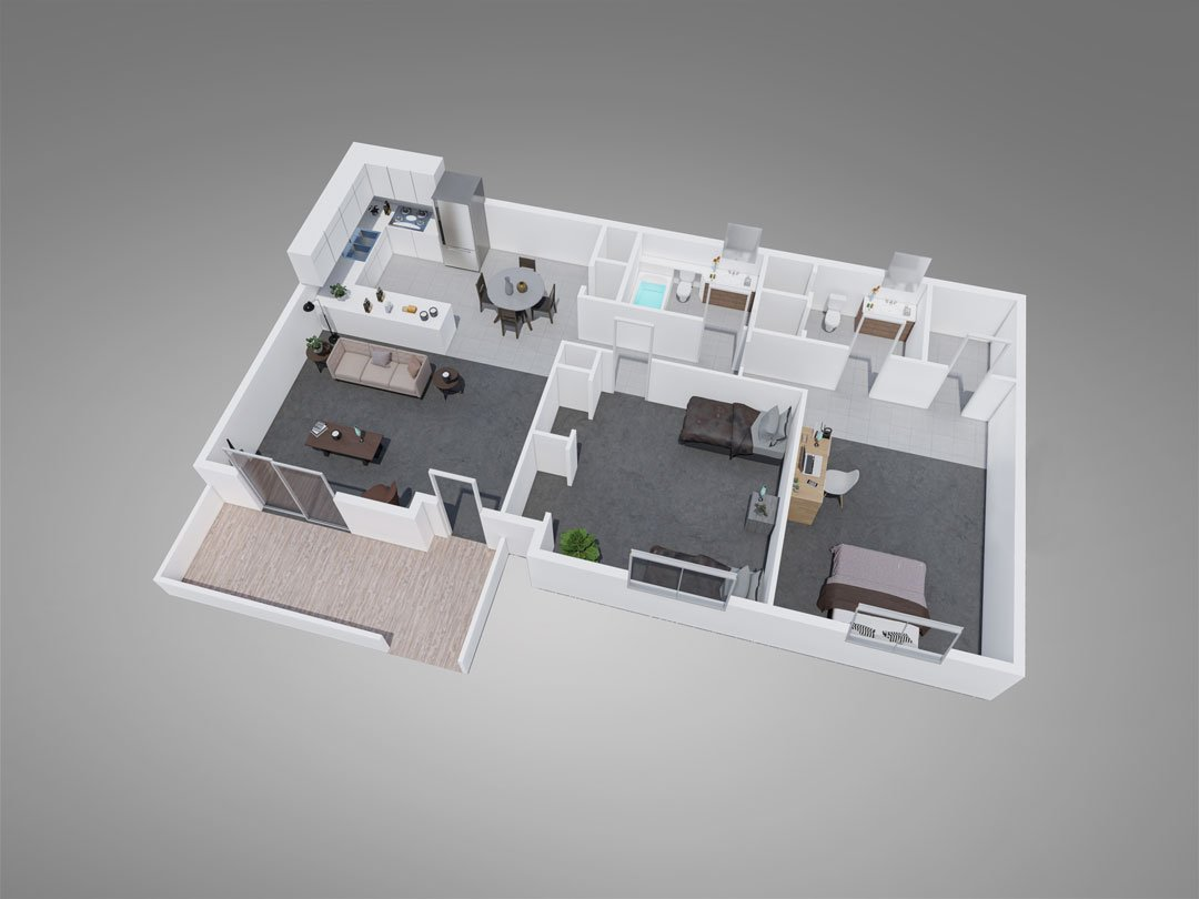 Fountain Circle Townhomes 2-Bedroom Apartment